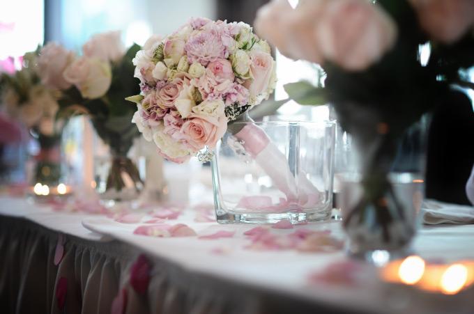 Der Brautstrauß meiner Braut bei der Hochzeit