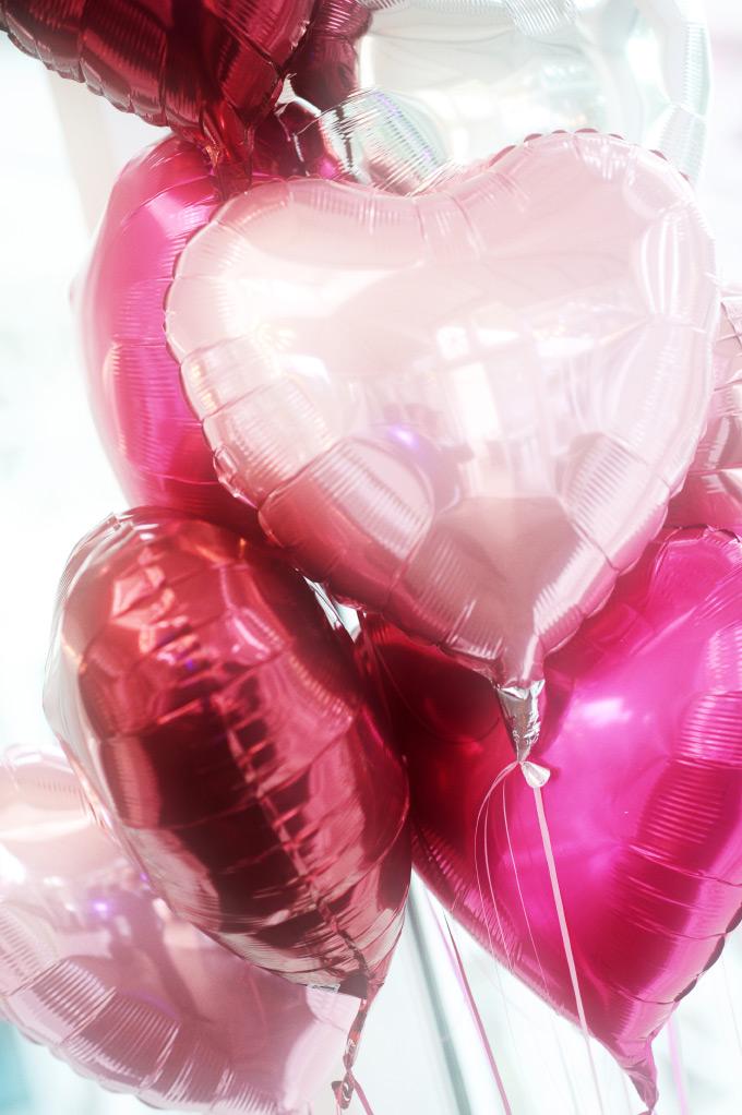 Herzfolienballons für unsere Hochzeit