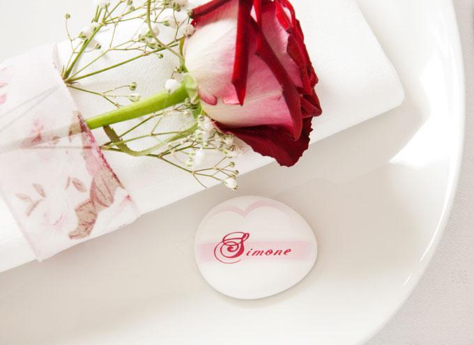Personalisierte Tischdekoration für die Hochzeit Fotostein