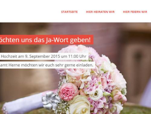 Eine Hochzeitswebseite selber erstellen