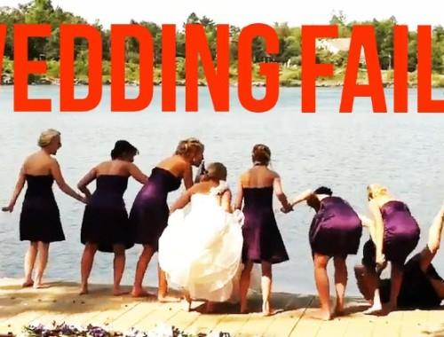 Bei einer Hochzeit kann viel schief laufen