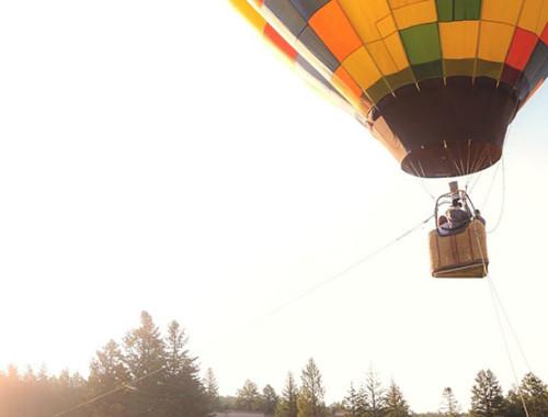 Heiratsantrag beim Ballonfahren
