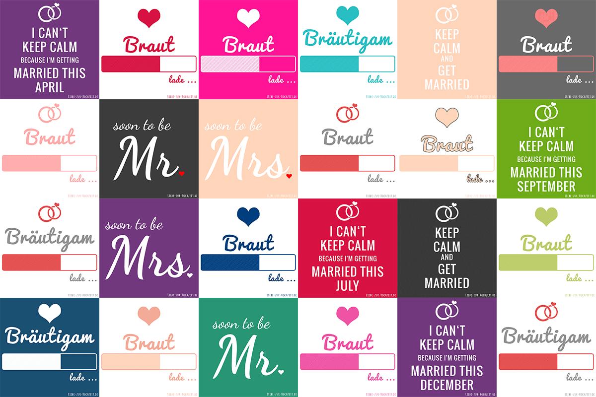 Profilbilder zum Thema Hochzeit für Facebook, Instagram & Co.