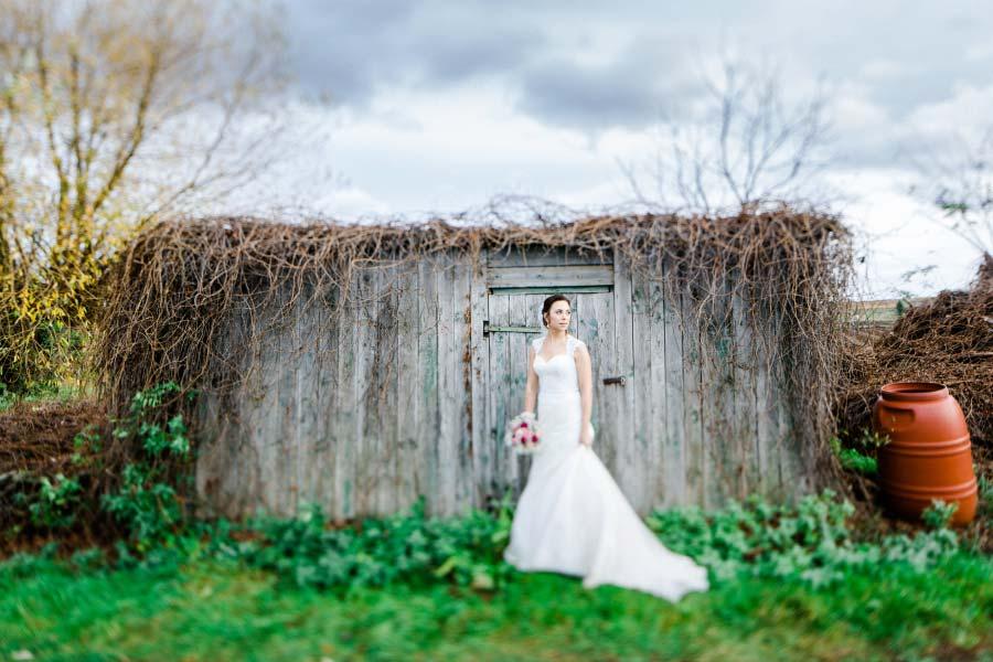 Braut beim Fotoshooting