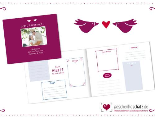 Das Hochzeits-Gästebuch, das Spaß macht - personalisiert mit Foto und eigener Widmung