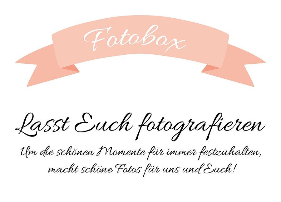 Fotobox Schild für die Hochzeit zum Download