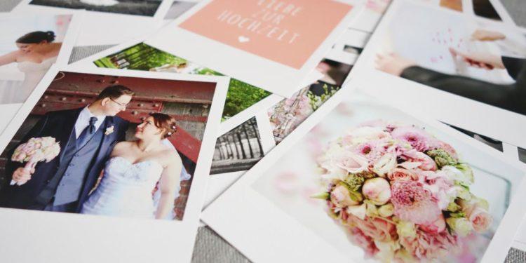 Fotos der Hochzeit als Polaroids