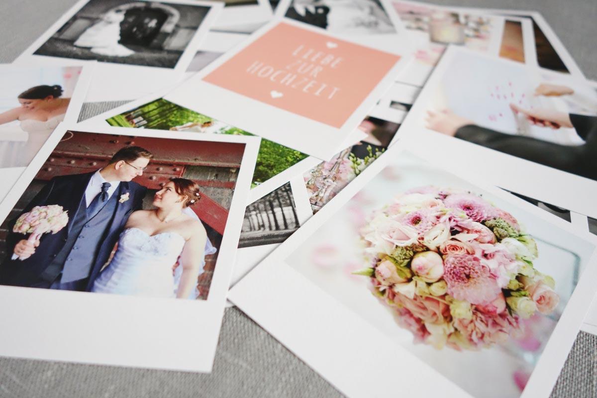 Fotos der hochzeit als polaroids for Polaroid fotos deko