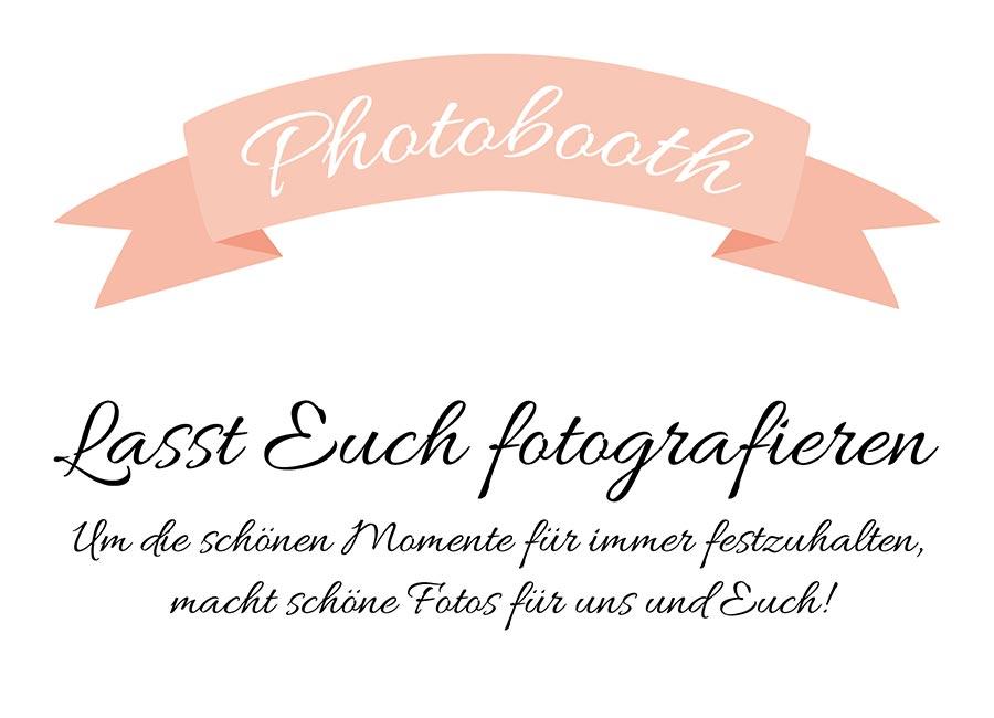 Photobooth Schild für die Hochzeit zum Download