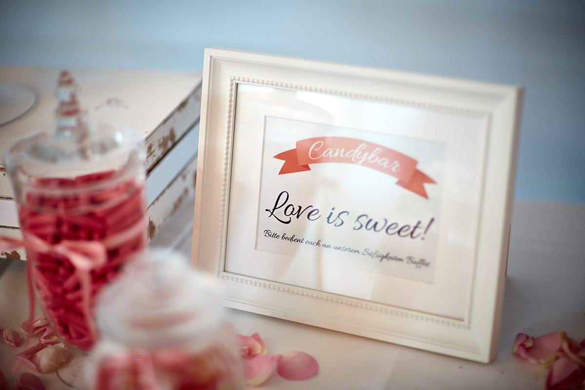 Viele Schilder für die Hochzeit zum Download
