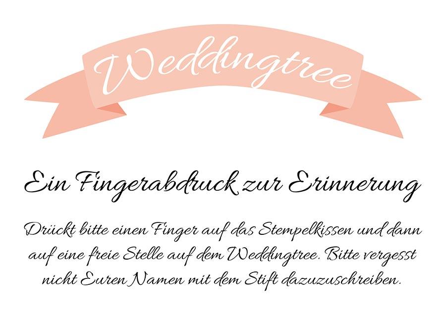 Weddingtree Schild für die Hochzeit zum Download