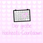 Ein Hochzeits-Countdown mit Checkliste zum ausdrucken