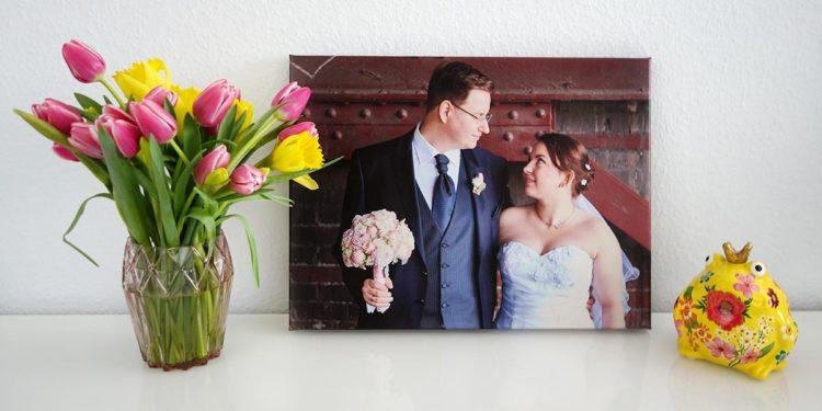 Das schönste Foto der Hochzeit – Halte ihn auf Leinwand fest