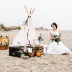 Eine Boho-Hochzeit am Strand der Nordsee