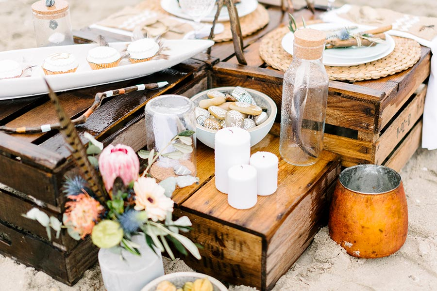 Eine Boho Hochzeit Am Strand Der Nordsee