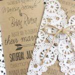 Hochzeitseinladung im Vintage-Look mit Tortenspitze