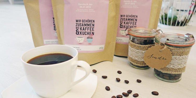 Individuelle Kaffeemischung als Gastgeschenk für die Hochzeit