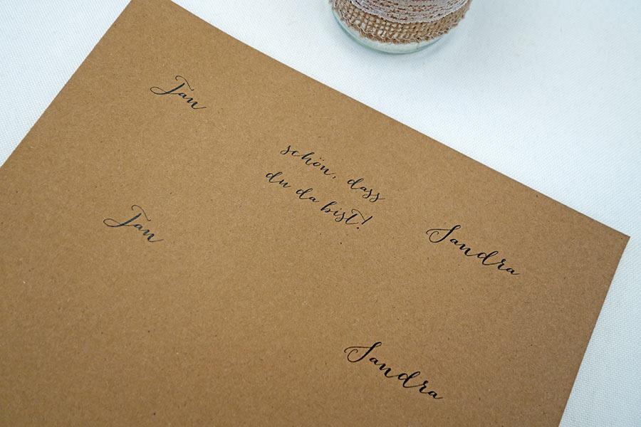 Individuelle Kaffeemischung als Gastgeschenk für die Hochzeit - Kraftpapier