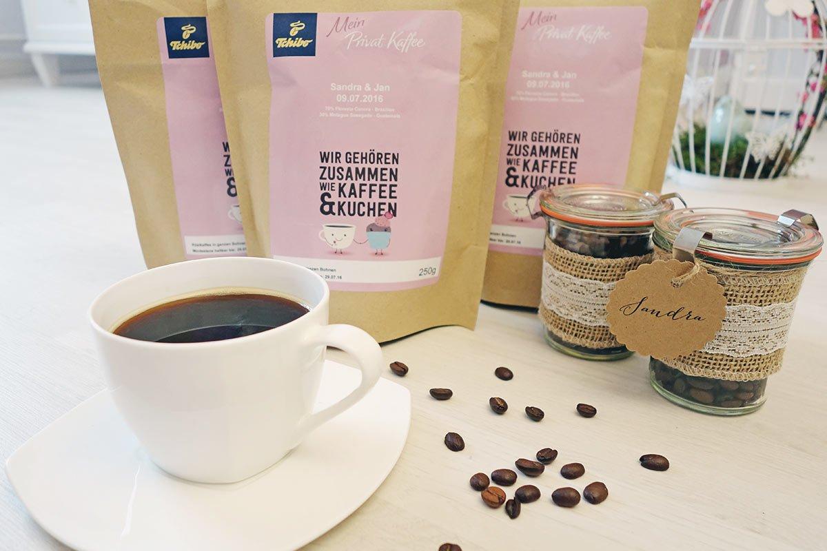 individuelle kaffeemischung als gastgeschenk f r die hochzeit. Black Bedroom Furniture Sets. Home Design Ideas