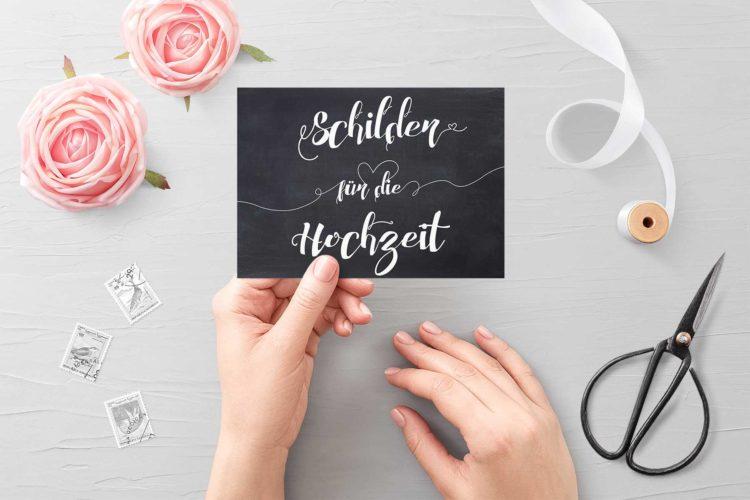 Über 35 Vorlagen für Schilder für eure DIY Hochzeit!
