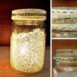 Vintage Kerzenglas mit Glitter und Spitze selber machen