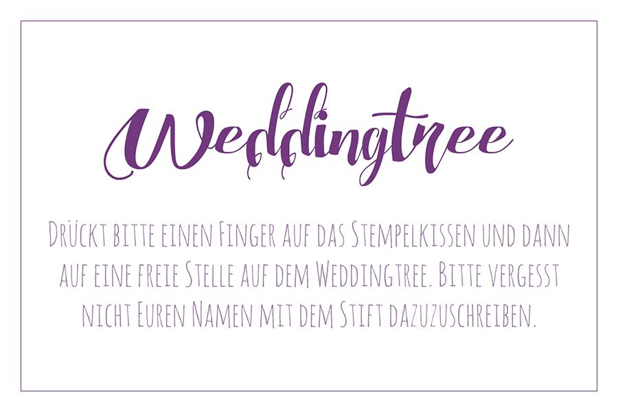 Weddingtree Schild Vorlage für die Hochzeit