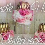 Kerzenhalter in Blütenform für die Hochzeit selber basteln