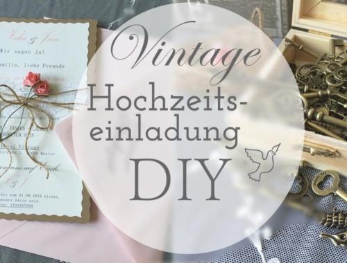 Vintage Hochzeitseinladung selber basteln