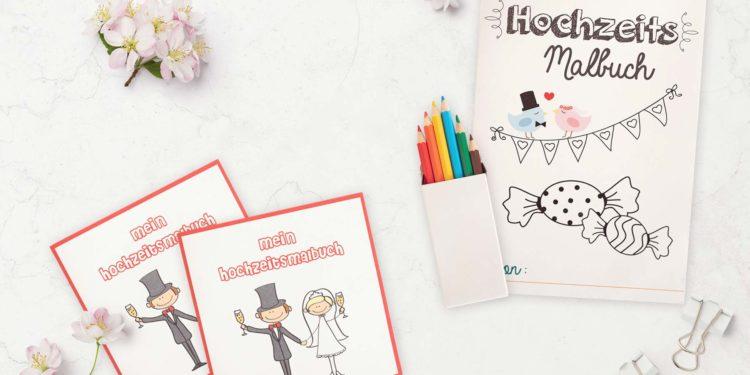 Malbuch für Kinder bei der Hochzeit zum Download