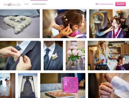 Online Hochzeitsalbum zum Zeigen und Sammeln der Hochzeitsfotos
