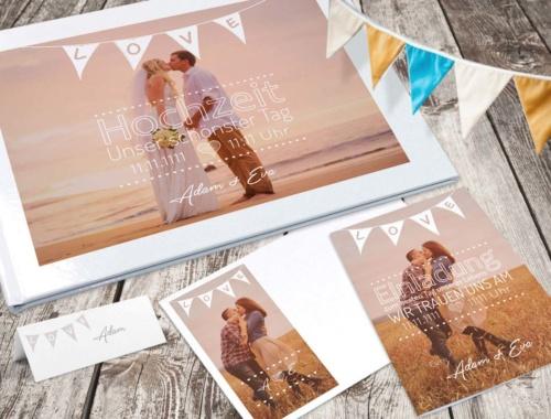Papeterie für die Hochzeit online selbst gestalten