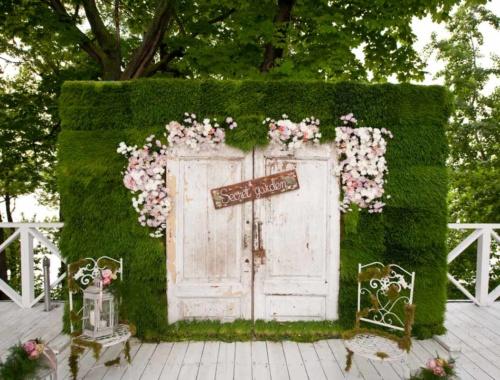 Photobooth Hintergrund bei der Hochzeit: Ideen & Beispiele