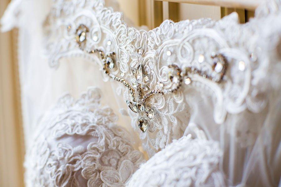 Detail des Brautkleids