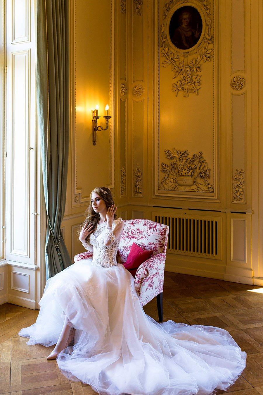 Braut in der Villa Rothschild