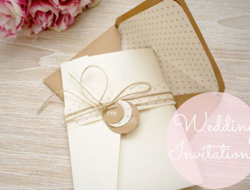 DIY Hochzeitseinladung mit verschiedenen Karten und Pocket Folder