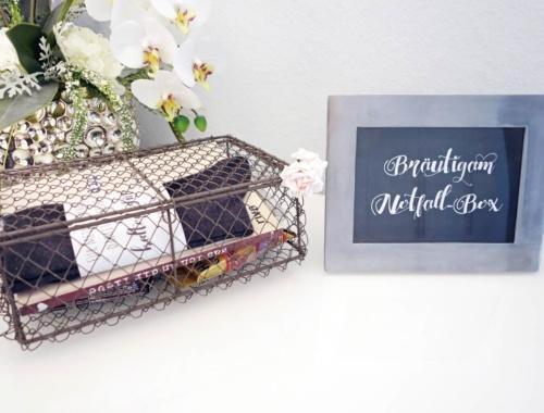 Die Survival/Notfall-Box für den Bräutigam