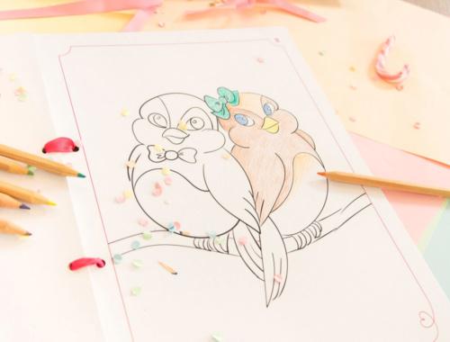 Ein Malbuch für Kinder bei der Hochzeit zum Download