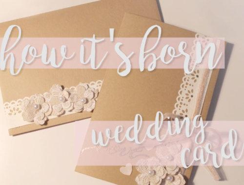 Hochzeitseinladung im Vintage / Shabby-Chic Look mit Pocket Folder