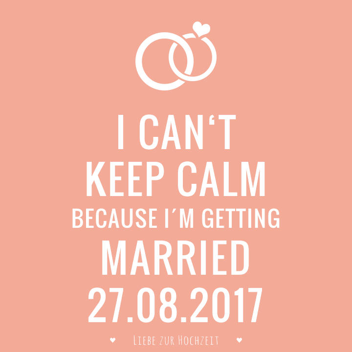 Keep Calm Bild mit Datum