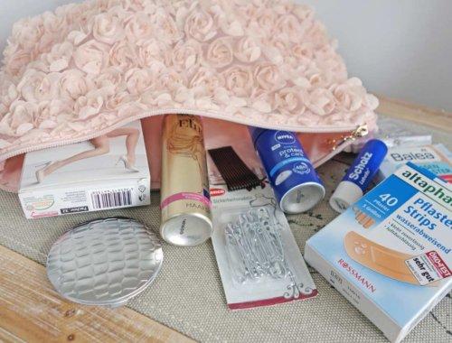 Notfall-Tasche für die Braut am Tag der Hochzeit