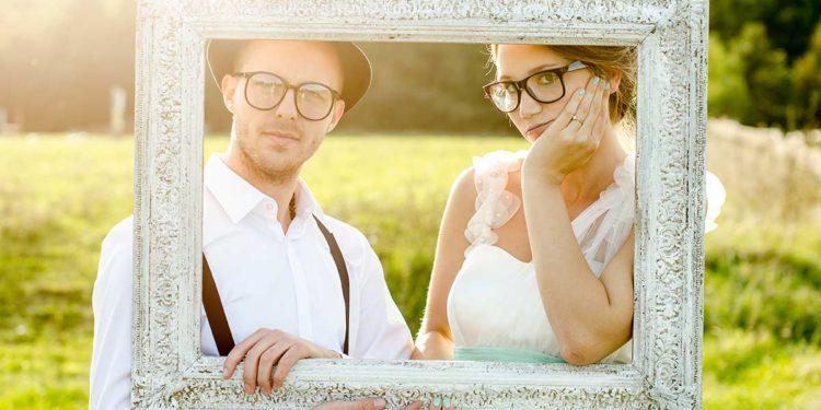 Bilderrahmen und Requisiten für euer Photobooth bei der Hochzeit