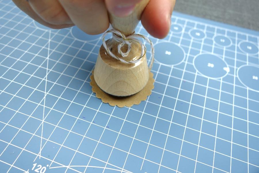 Freudentraenen zur Hochzeit mit Teebeutel selber basteln - Kraftpapier stempeln