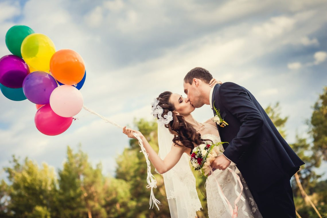 Ballons f r die hochzeit zur dekoration zum steigen for Dekoration hochzeit