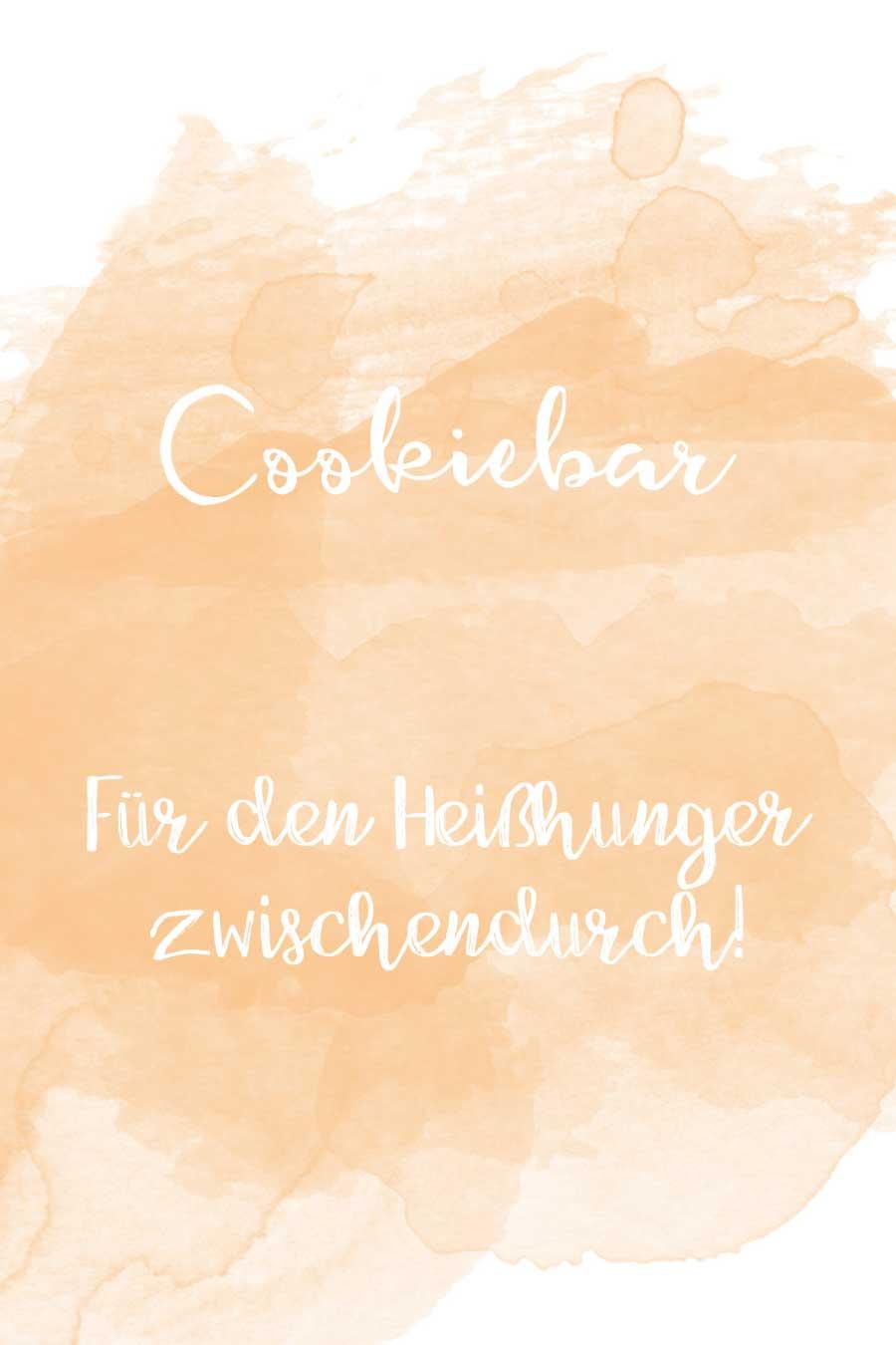 Cookiebar Schild in Wasserfarben-Optik kostenlos zum Download