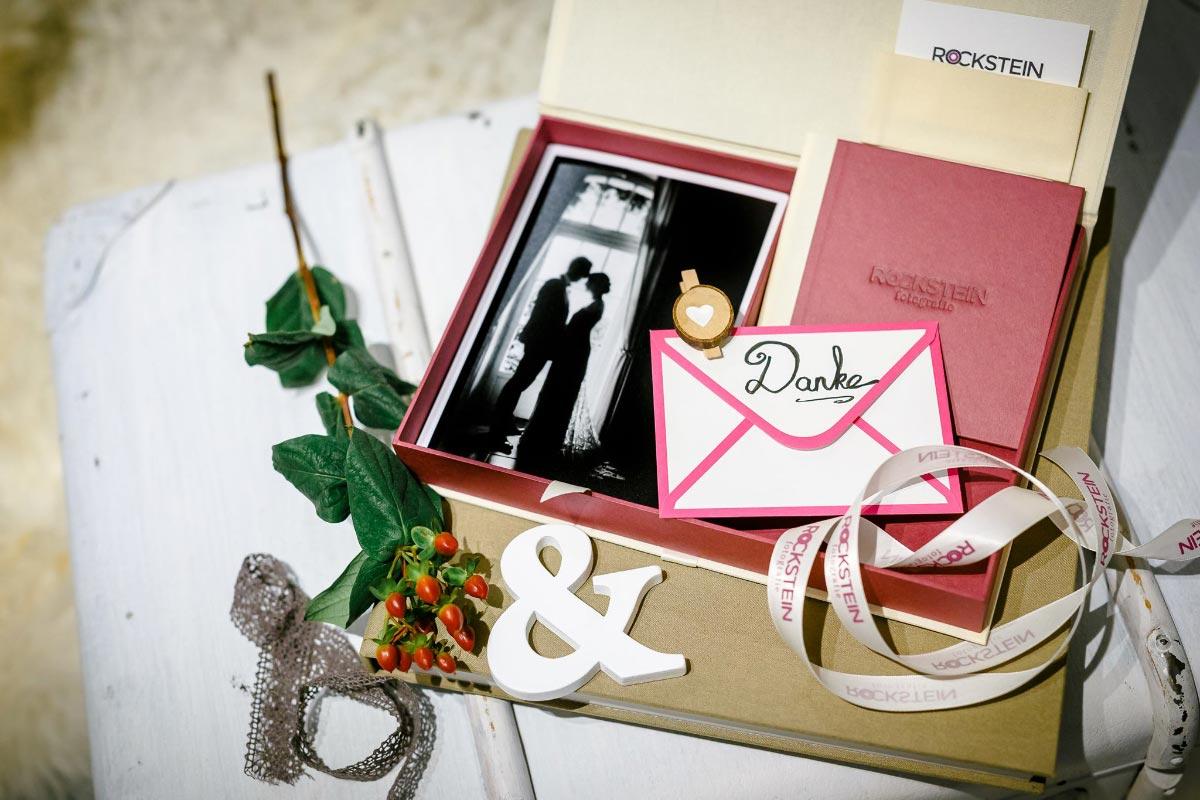 Die handgefertigte Leinenbox von ROCKSTEIN fotografie