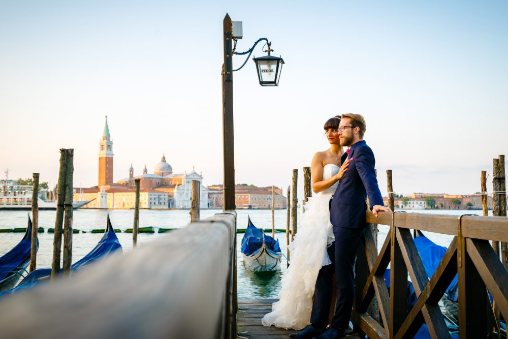 Gianna und Lucas beim After-Wedding-Shooting in Venedig