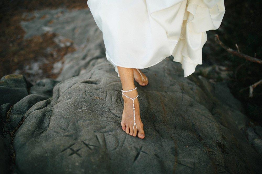 Sandalen für die Braut