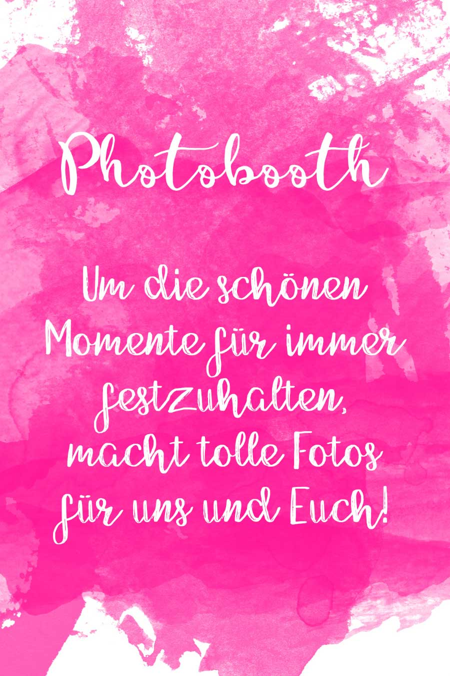 Photobooth Schild in Wasserfarben-Optik kostenlos zum Download