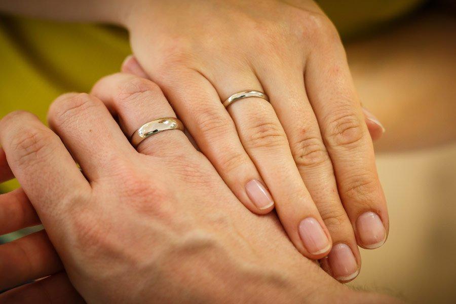 Ringe für die Hochzeit selber schmieden - Die fertigen selbst geschmiedeten Ringe