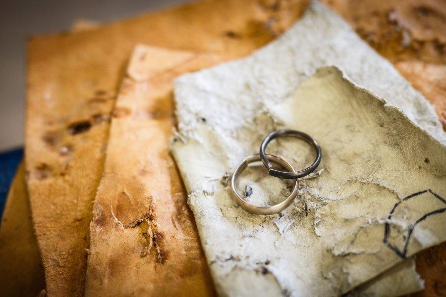 Ringe für die Hochzeit selber schmieden - die Grundform als Ring